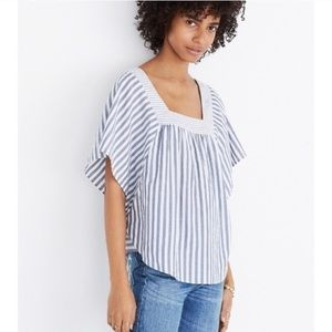 Madewell Butterfly Blouse in Stripe Play NWOT